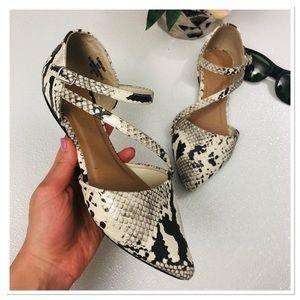 Madden Girl snake print flats almond toe shoes